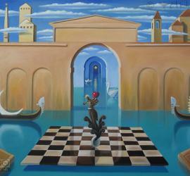 Serenata in laguna quadro surrealista