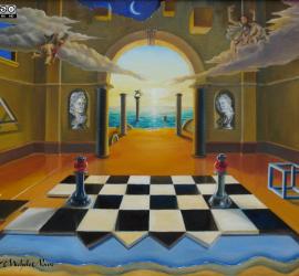 Giochi d'amore quadro surrealista