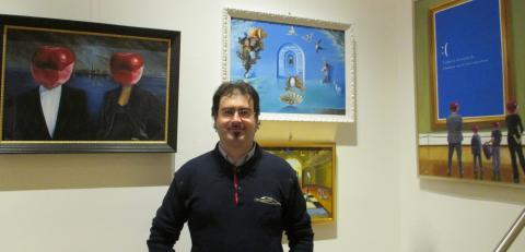 Michele Nave con le sue opere in mostra a Berlino