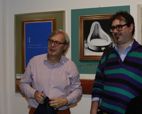 Incontri d'arte  Michele Nave e Vittorio Sgarbi