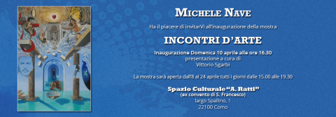 """Mostra """"incontri d'arte"""" a Como, presenta Vittorio Sgarbi"""